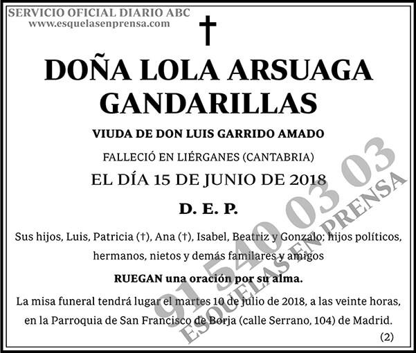Lola Arsuaga Gandarillas